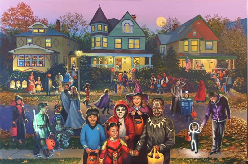 Halloween In Oak Park